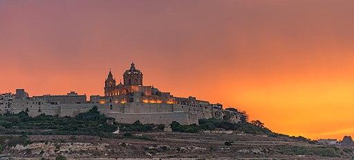 Malta Old City Sunset