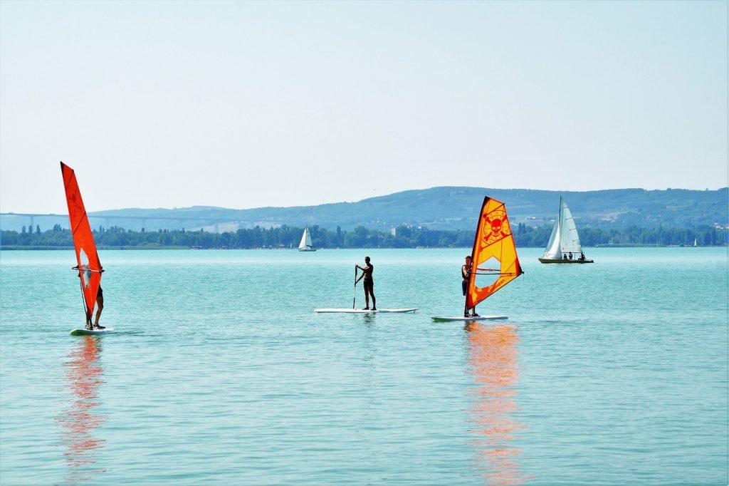 Lake Balaton Hungary Windsurfing