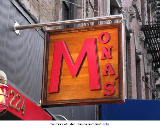 Mona's Bar New York City