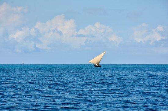 Sailing in Zanzibar