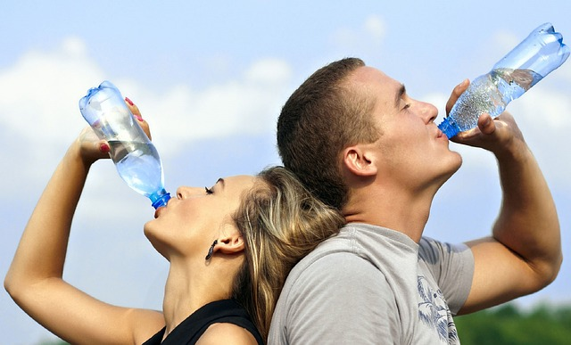 drinking water while traveling