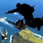 Sky Diving Over Hawaii