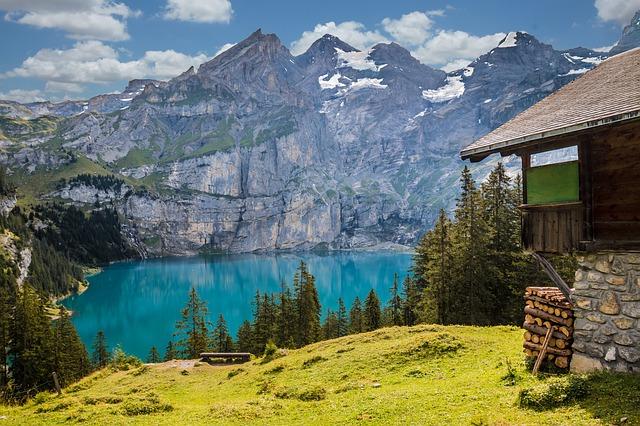 Mountain Hut at Swiss Lake