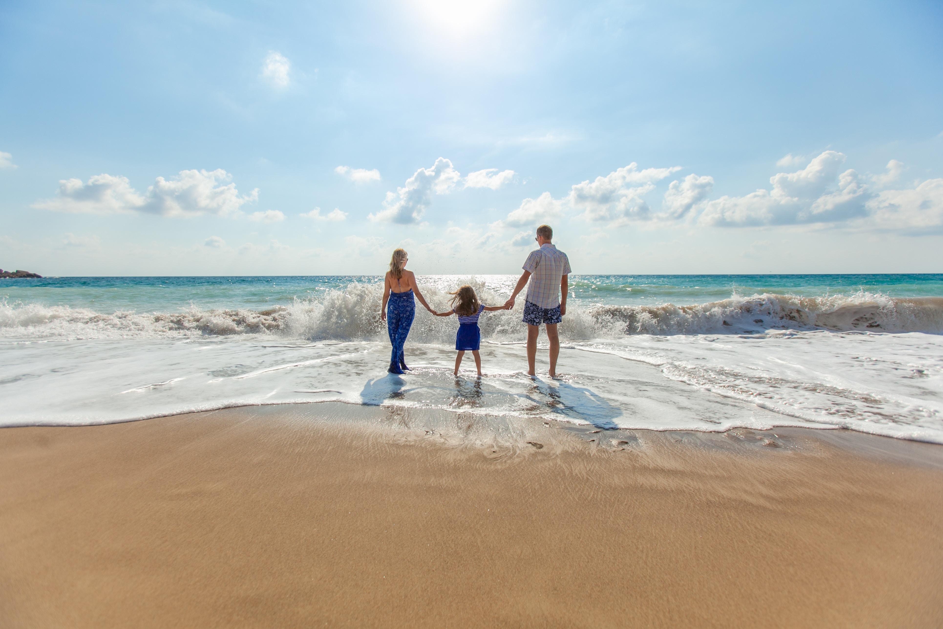Family at Beach by Natalyze