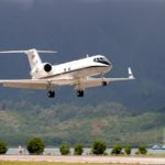 Private Jet Landing