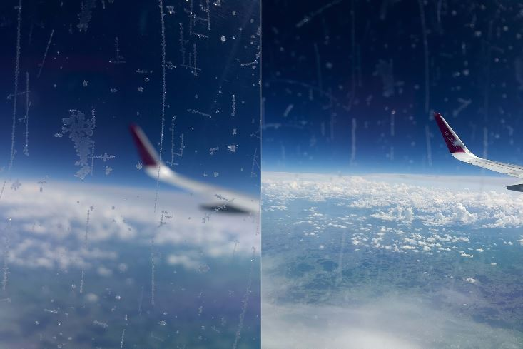 how to take photos out airplane window