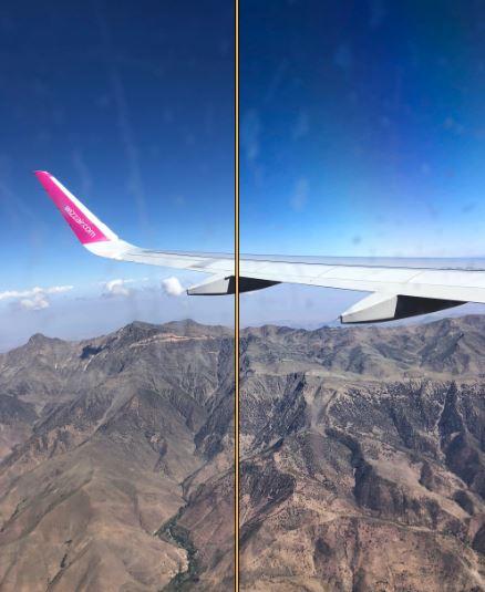 Airplane Window Photography