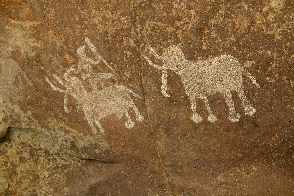Rock Painting Bhimbetka Raisen India