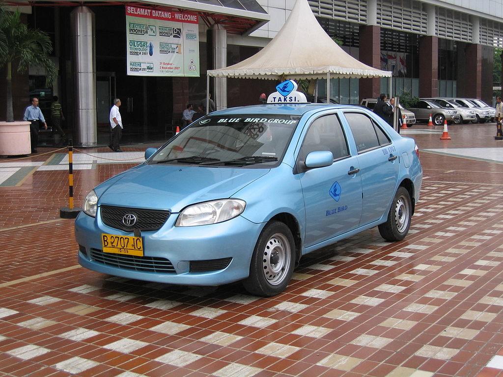 Bluebird Taxi in Bali Indonesia