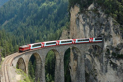 Glacier Landwasser Railway Switzerland