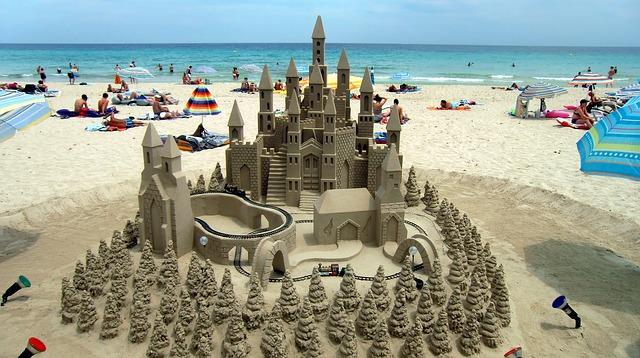 Mallorca Beach Sand Castle