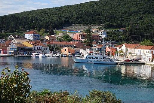 Fiscardo Harbor Kepalonia Greece