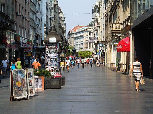 Knez Mihailova Street Belgrave Serbia