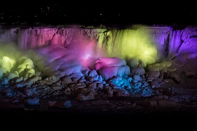 Niagara Falls Winter Light Show