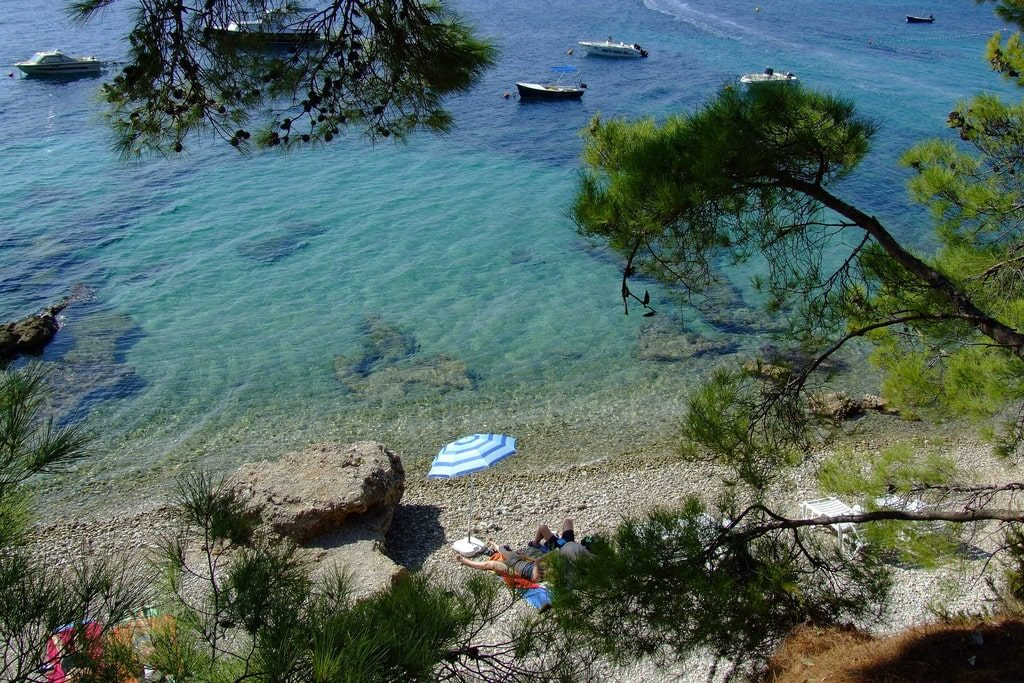 Beach in Bol, Croatia by Gravitat-Off