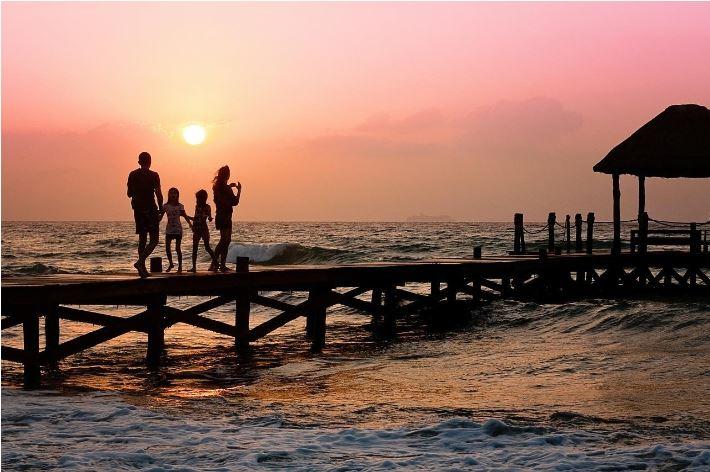 Family in Caribbean