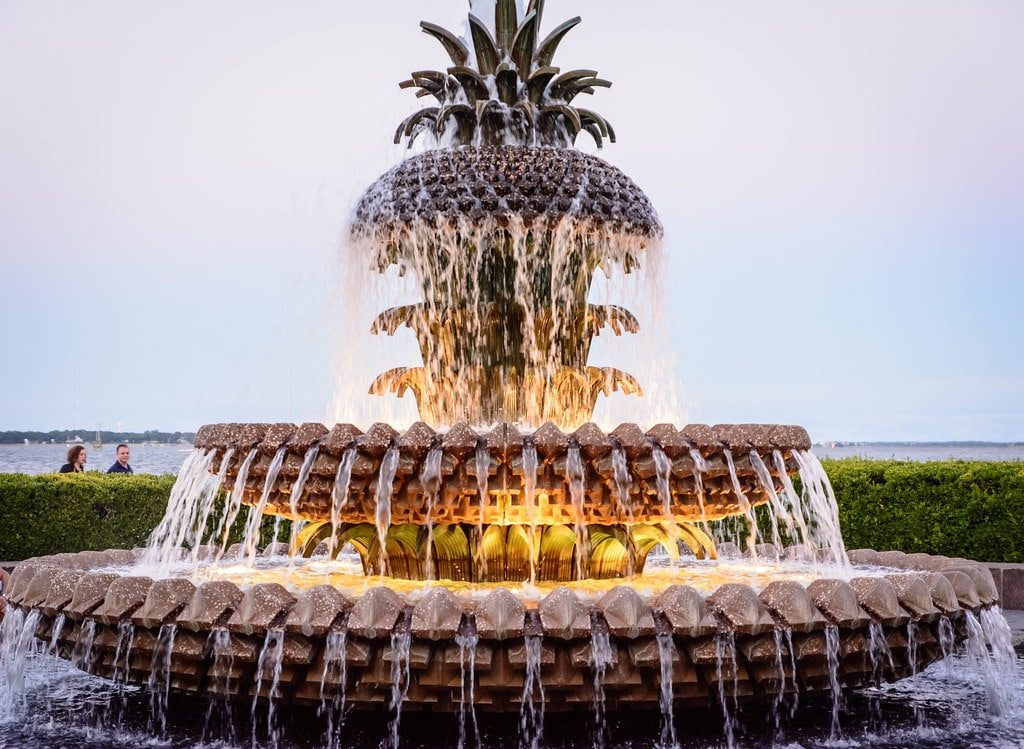 "Charleston South Carolina, ""Pineapple Fountain"" by JOgdenC is licensed under CC BY-NC-ND 2.0"