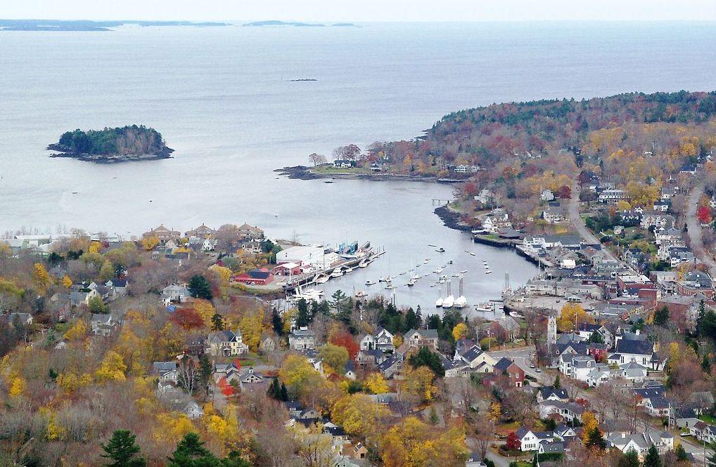 Camden Harbor from Mt. Battie