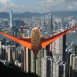 Hammock Girl in Hong Kong