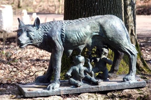 Romulus and Remus Statue Rome