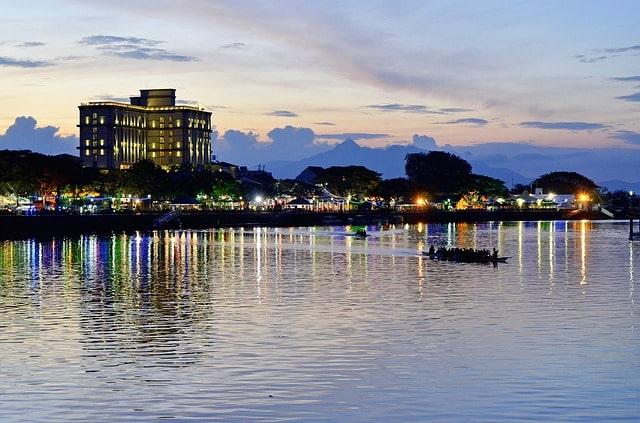 Sunset in Sarawak Malaysia