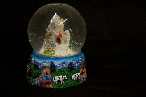 Music Box Snow Globe