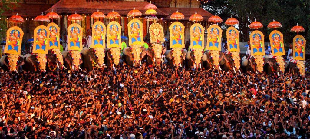 Pooram Festival in Kerala India