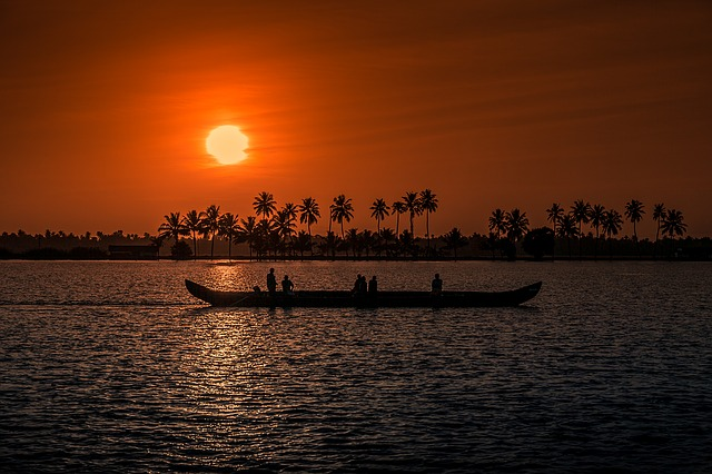 Sunset in Kerala India