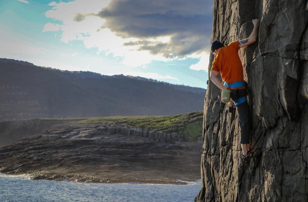 Climbing in Tasmania