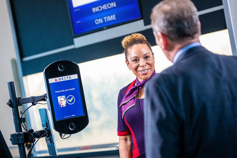 Delta Biometric Airline Face Scanner