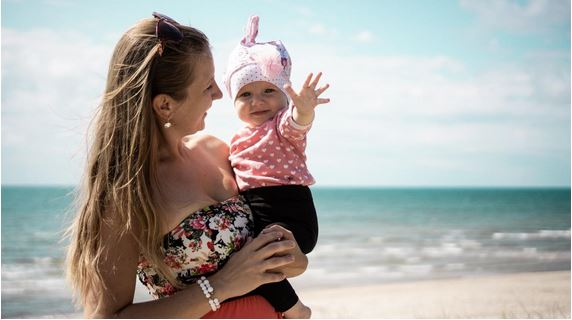 Baby at Barcelona Beach