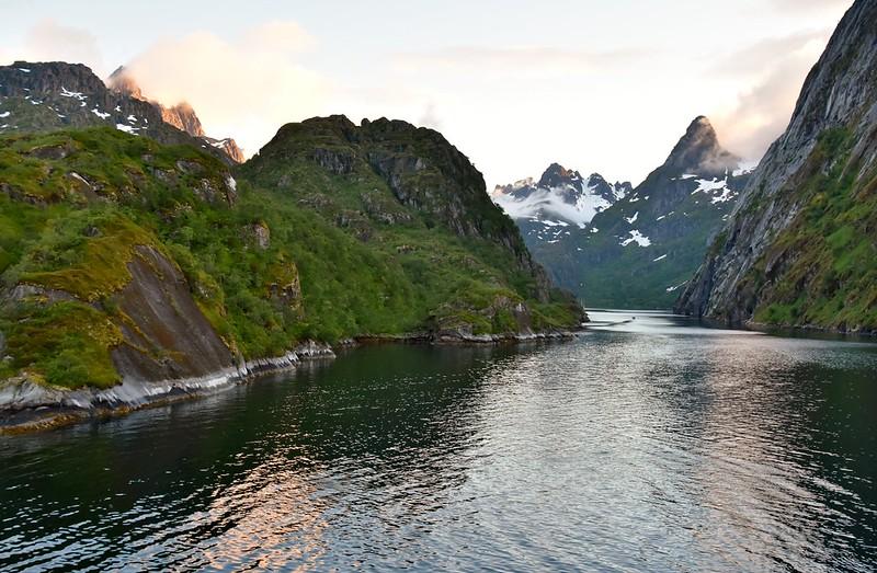 Fjord Lofoten Islands Norway