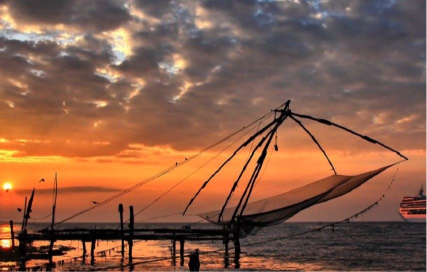 Fort Cochin Kerala India at Sunset
