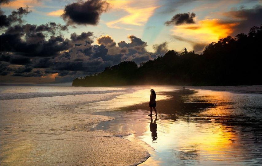 Radhanagar Beach Inida