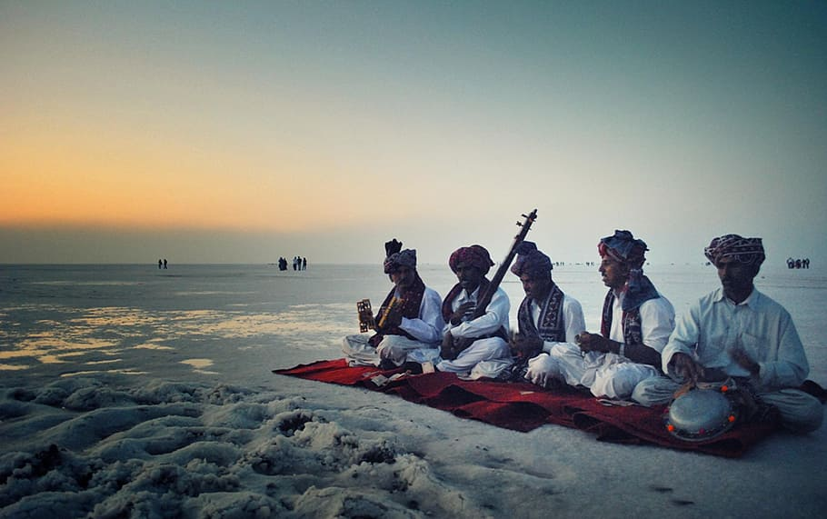 Rann Utsav India at Sunset