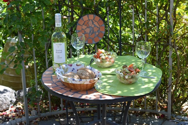 Patio Table Setting