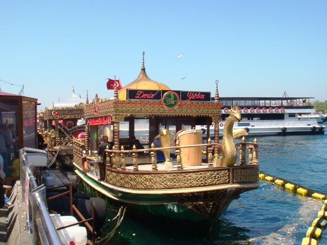 Fish Sandwich Boat Istanbul