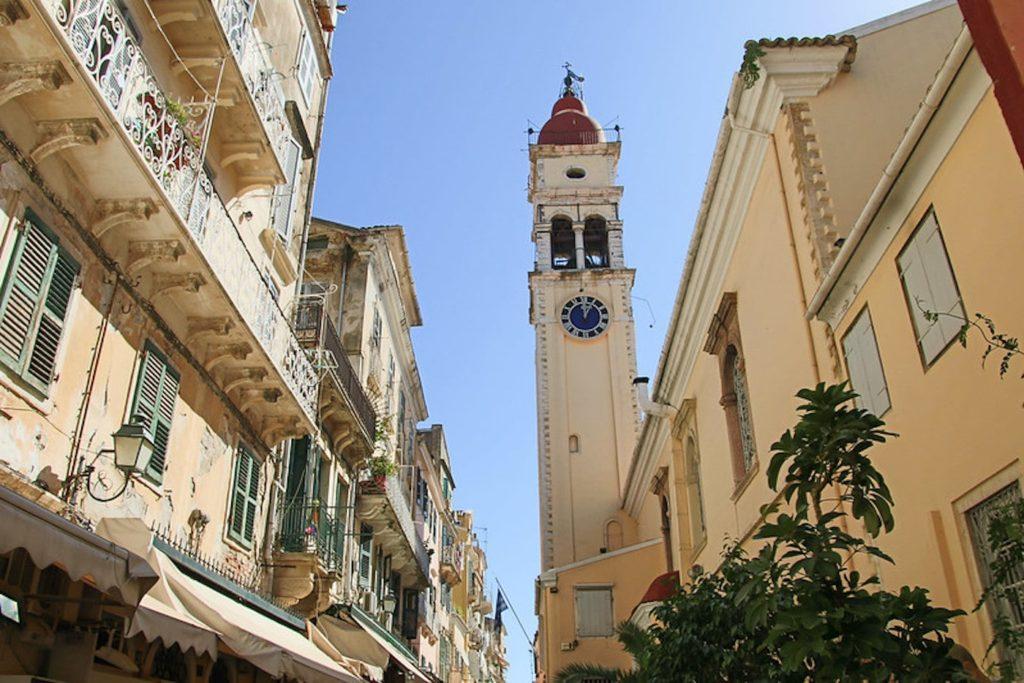 Agios Spryidonas Corfu Greece