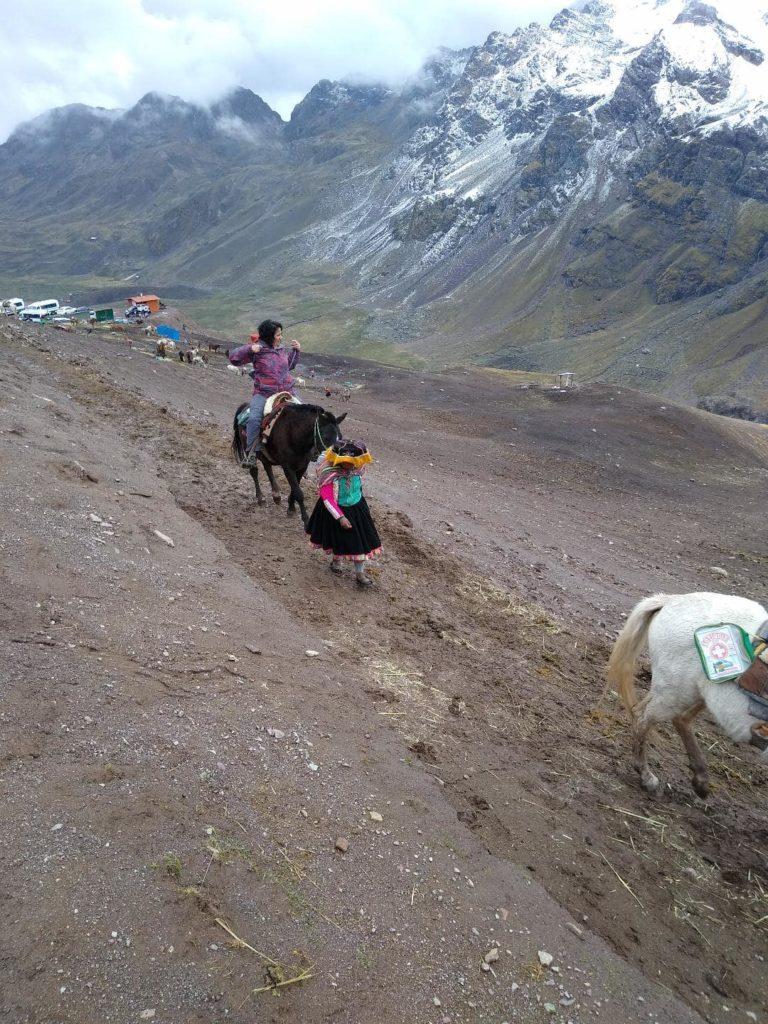 Donkey Rainbow Mountain Hike Peru