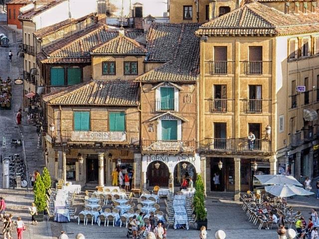 Segovia Spain Cafe