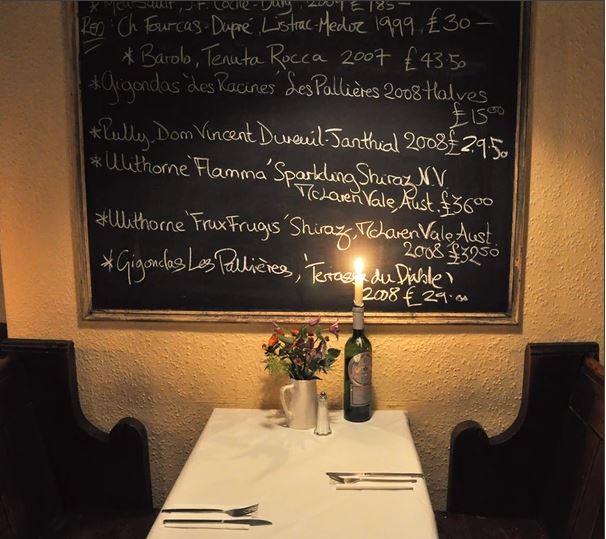 Andrew Edmunds Restaurant Soho London