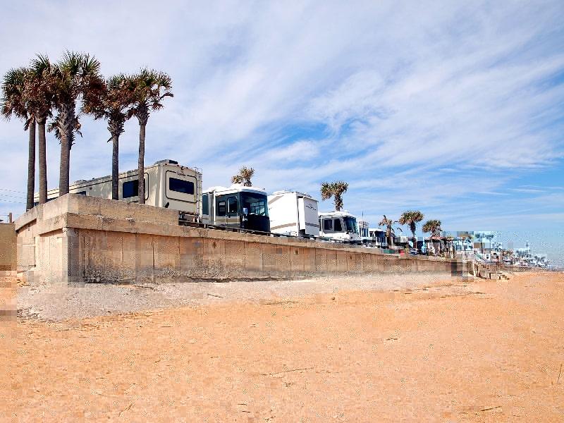 RVs at Beach