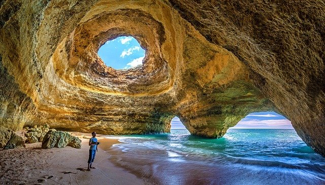Beach Caves, Algarve Portugal
