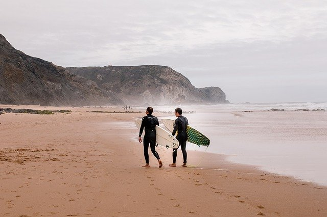 Surfing Beaches, Algarve Portugal