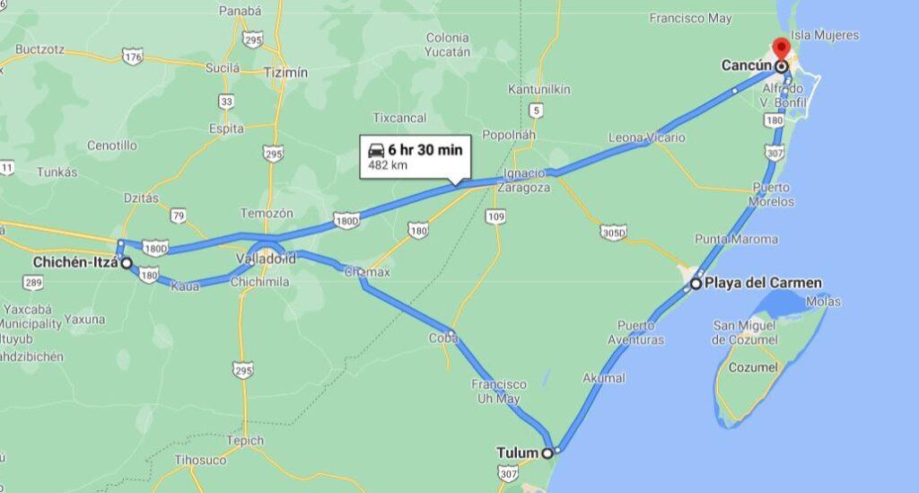 Maya Riviera Coast Itinerary