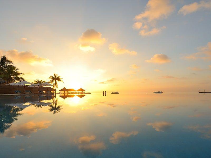 Maldives Golden Sunset